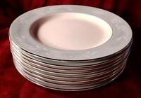 """Set of 8 Vintage Homer Laughlin Cavalier Eggshell """"Romance"""" 10.25"""" Dinner Plates"""