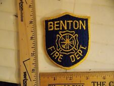 BENTON FIRE DEPT PATCH ARKANSAS IOWA IA (LOT F )