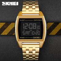 SKMEI Trendy Wrist Watch Men's Sports Chronograph Alarm Quartz LED Watch 1368 B