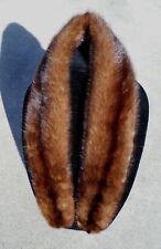 "Vintage Sable Zobel Fur Collar Wrap Scarf Stole Medium Brown 36"" Long w Clips"