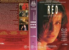 THREE COLOURS RED - VHS -ePAL -NEW-NEVER PLAYED -VERY RARE! -Original Oz release
