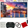 "TCL 55"" 6-Series 4K QLED UHD HDR Roku Smart TV (2019) w/ Accessories Bundle"