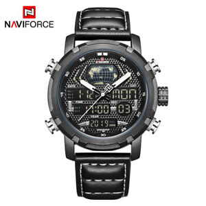 NAVIFORCE Watch Man Quartz Digital Waterproof Military Watch Relogio Masculion
