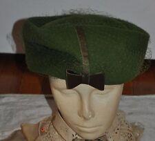 Ladies Green Victorian Steampunk Riding Hat w/ hat pin