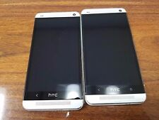 HTC One M7 32GB (Unlocked) 4G LTE  Smartphone Silver -For Parts 7411