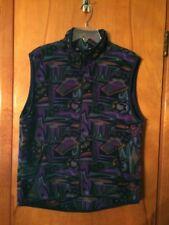 Moving Comfort Purple Green Blue Fleece Zip Vest M