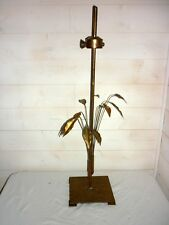 LAMPE DE TABLE GOLD LEAVES 1950  MAISON CHARLES