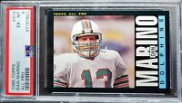 1985 Topps Dan Marino 2nd year card, PSA 6. HOF, All-time Great! Nicely Centered