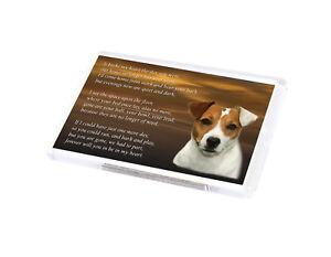 JACK RUSSELL Dog Fridge Magnet Pet loss Bereavement Memorial Gift