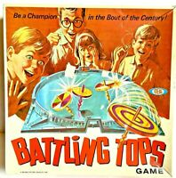 Vintage 1968 Battling Tops Game Toy Incomplete Ideal Toy Corps Family Board Game