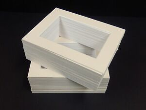 """100 IVORY 8X6"""" FOR 6X4"""" PICTURE MOUNTS"""