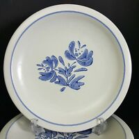 Pfaltzgraff Yorktowne 4 Dinner Plates Blue USA 10.25 inch More Pieces Available
