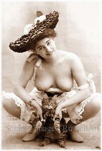 Endearment- A4 A3 A2 Sepia Erotic Female Nude Retro PHOTO REPRINT by RussellArt
