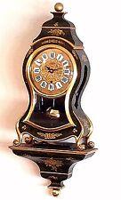 Vintage Zenith Neuchatel Mantle / Wall Clock W/ Bracket - Beautiful