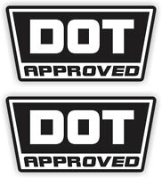 2 DOT Approved Motorcycle Helmet Stickers  Decals  D.O.T. Hard Hats 2-pack USA