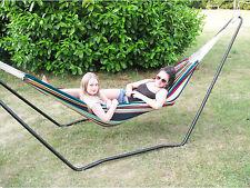 Ultracamp Spinel Double Hammock & Stand Weatherproof Metal Frame Garden Swing