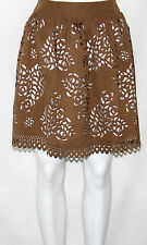 NEW BAR III Size MEDIUM Cutout A-Line Skirt BROWN Retail for $59.00