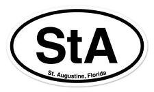"STA St Augustine Florida Oval car window bumper sticker decal 5"" x 3"""