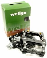 Wellgo B132 Downhill DH Mountain Bike Platform MTB Pedals w/ Replaceable Pins