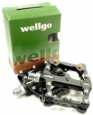 Wellgo B132 Downhill DH Mountain Bike Platform MTB Pedals w/ Replaceable Pins