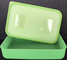 Tupperware Pak 'n Stor Rectangular Container & Seal Green 4-Cups/1.1L  Brand New