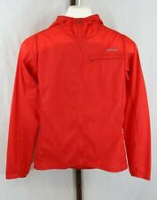Patagonia Womens Ladies Red Hooded Zip Front Lightweight Windbreaker Size XS