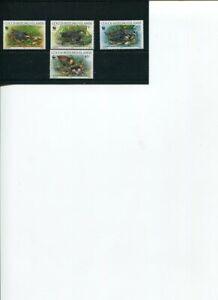 1992 WWF COCOS KEELING ISLANDS Cocos Buff-banded Rail 4V MNH POST-FREE