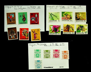 SINGAPORE DANCE ART BEE ON FLOWERS POSTAGE DUE 17v MINT STAMPS $13.65