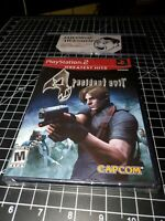 NEW RESIDENT EVIL 4 PS2 BRAND NEW SEALED PLAYSTATION 2 HORROR ACTION GIFT GAME