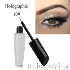 Waterproof Shimmer Eyeshadow Glitter Colorful Liquid Eyeliner Metallic Cosmetics A10