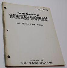 Wonder Woman * 1978 Original RARE TV Show Script * Episode is about UFO sighting