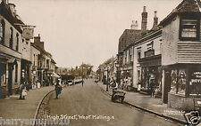Postcard High street West Malling RP 1913 10