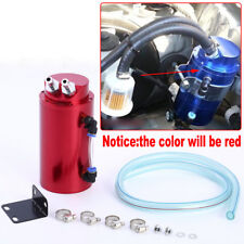 Universal Red Aluminum Cylinder Oil Catch Radiator Reservoir Tank Breather Can