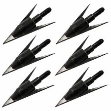 12PCS  Fixed Blade Barbed 150 Grain Fishing Arrows Broadhead Hunting Points Tips