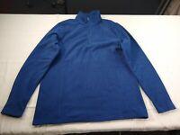 Lands' End - 1/4 Zip Long Sleeve Fleece Pullover - Women - Medium - Blue