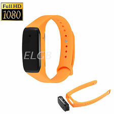 1080P HD Buckle Bracelet Spy Camera Video Audio Recording Wristband Watch Style