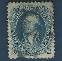 1861 US STAMP SCOTT #72 GEORGE WASHINGTON 90C USED, SCARCE RARE!