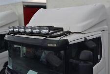 To Fit MAN TGL TGM Front Black Steel Roof Light Bar + Jumbo Spots + Flush LEDs