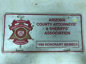 1998 Member ARIZONA County Attorneys' & Sheriffs' Association License Plate