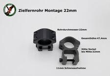 Montage Paar für Zielfernrohr 22mm MR -auch  Hensoldt , Zeiss Jena Optik