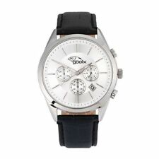 Orologio Cronografo Uomo GOOIX GX01139004 Cassa Acciaio e Cinturino Pelle Nero