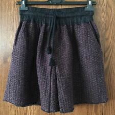 NWT 299usd Isabel Marant Etoile Drawstring Stretchy Belt Skirt Size 40 Burgundy