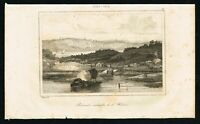 1837 Hudson River Palisades, Antique French Print - Rochelle