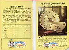 Pubblicità Advertising Werbung 1983 BARILLA Mulino Bianco-Scheda raccolta punti
