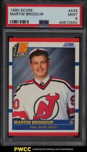 1990 Score Hockey Martin Brodeur ROOKIE RC #439 PSA 9 MINT