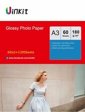 120 Sheets A3 180Gsm High Glossy Photo Paper Inkjet Paper Printer 420x297 Uinkit