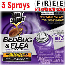 Bed Bug Killer 3 Sprays Trap Bomb Insect Fogger Kill Mosquito Flies Fleas Ticks