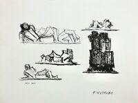 """Fritz Wotruba (1907-1975) Lithographie, Stempelsignatur, """"Studien"""", 1973"""