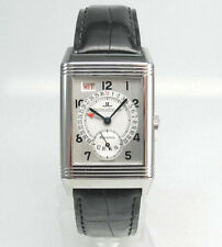 Jaeger LeCoultre Reverso -Grande -Taille Day Date Edelstahl  Box u. Papiere