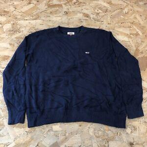 Mens Jumper Pullover M Medium Tommy Hilfiger Blue B6051
